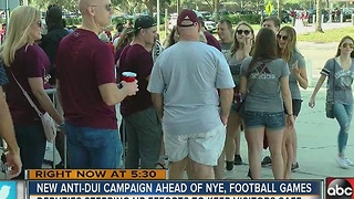 Law enforcement stepping up DUI patrols ahead of football games, holiday season