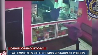 Police release surveillance after two employees killed during restaurant robbery - Video
