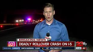 Deadly rollover crash on I-5
