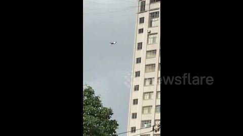 Man Dangles From Power Cables When Trying To Leave Hotel Without Paying