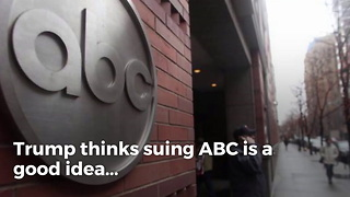 Trump Wants Everyone to Sue ABC News for Triggering Market Crash - Video