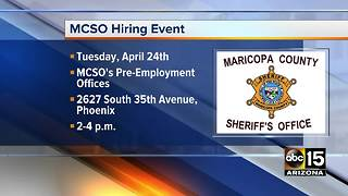 MCSO holding hiring event on April 24 - Video