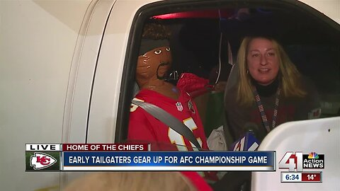 Chiefs fans plan ahead, can't wait to enter stadium for playoff football