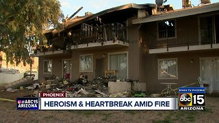 Eight families forced out of their homes after a Phoenix apartment fire