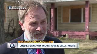 Cleveland condemned home owned by Cleveland school district to finally be taken down - Video