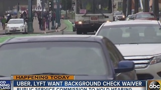 Uber, Lyft want background check waiver in Maryland - Video