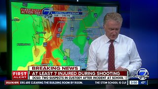 Thunderstorms moving into Highlands Ranch area where shooting happened