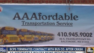 City Schools terminates contract with AA Affordable bus company after crash - Video