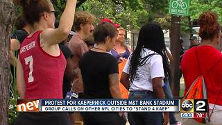 Group protests NFL, supports Kaepernick ahead of Ravens home opener - Video