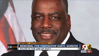 Memorial for firefighter Daryl Gordon