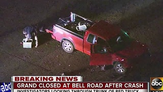 Grand closed at Bell Road after crash - Video