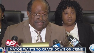 Mayor wants to crack down on crime - Video
