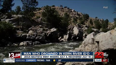 The Kern County Sheriff's Office updates the status of Kern River recovery operations