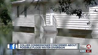 Flood water diversion concerns cross county line