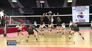 Local teams compete in girls high school volleyball championship - Video