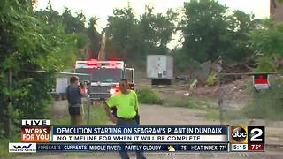 Demolition starts on Seagram's Plant in Dundalk - Video