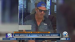 Palm Beach Gardens bank robbery suspect arrested in Broward County - Video