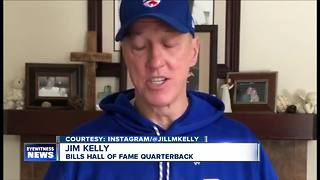 Jim Kelly prepares for cancer surgery - Video