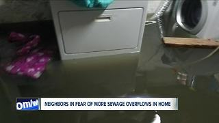 Neighbors in fear of more sewage overflows - Video