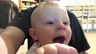 Baby Does Funny Impressions of Animal Noises - Video