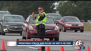 Pedestrian struck, killed while crossing road on Indianapolis' northeast side - Video