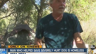 Man who helped rescue injured dog talks to 10News