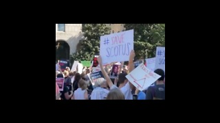 Anti-Kavanaugh Protesters March Through Washington - Video