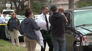 1-year-old reunited with her family members