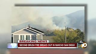 Brush fire burns 10 acres in Rancho San Diego