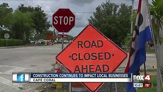 Construction project continues to impact businesses in Cape Coral