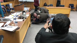 Father of Abuse Victims Lunges at Larry Nassar in Court - Video