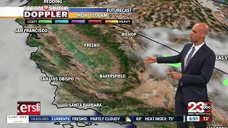 Storm chances come in for the start of the week! - Video