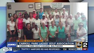 The Carroll Park Ladies' Golf Association take a swing at a shout out - Video