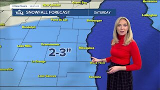 Snow continues Saturday morning