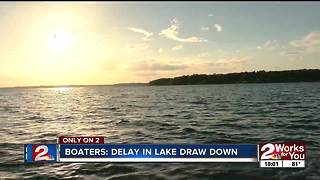 Grand Lake boaters welcome delayed lake draw down