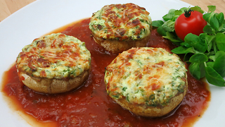 How to make stuffed spinach mushrooms - Video