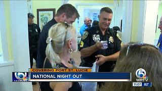 Police take part in 'National Night Out' - Video