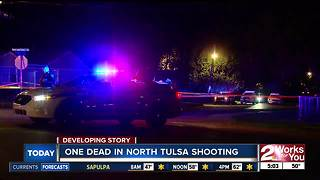 Shootout leaves a man dead in North Tulsa - Video