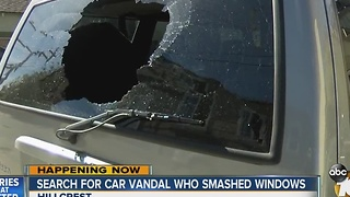 Several Car Windows Bashed in Hillcrest - Video