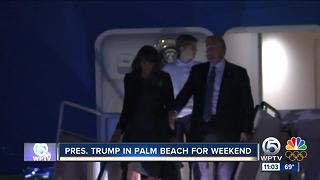 President Trump arrives in West Palm Beach