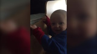 Tot Boy Climbs The Ladder On A Bunk Bed By Himself - Video