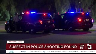 Suspect in Escondido police shooting found dead