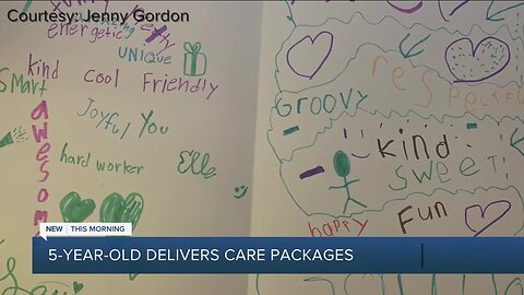 5-year-old delivers care packages