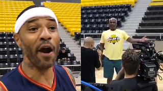 Kenyon Marton & Charles Oakley Start Talking Trash Before Big3 Season Even Begins! - Video
