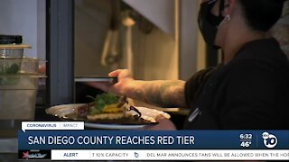 San Diego County reaches red tier