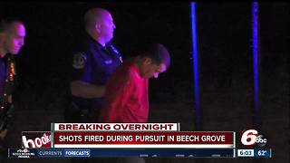 Beech Grove police arrest man who fires shots during pursuit - Video