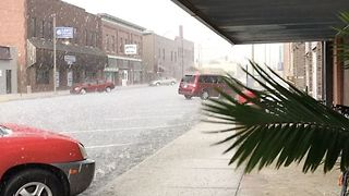 Severe Storms Bring Hail in Central Kansas - Video