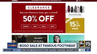 Get a great deal on shoes at Famous Footwear - Video