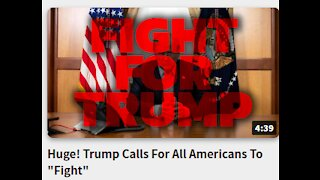 "Huge! Trump Calls For All Americans To ""Fight"""