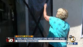 Family heirlooms disappear amid crime spree - Video